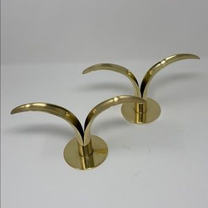 The Lily Brass Candle Holders Ystad Metall Vintage